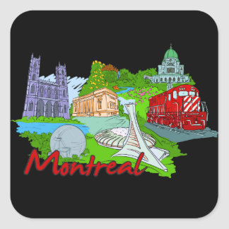 Montreal - Canada.png Square Sticker