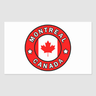 Montreal Canada Rectangular Sticker