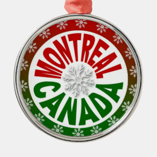 Montreal Canada red green ornament