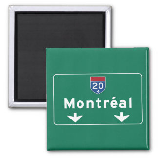 Montreal, Canada Road Sign Square Magnet