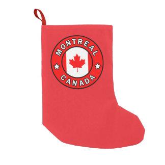 Montreal Canada Small Christmas Stocking