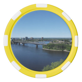 Montreal City River Bridge Poker Chips
