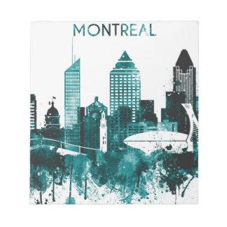 Montreal City Skyline Notepad