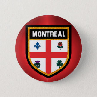 Montreal Flag 6 Cm Round Badge