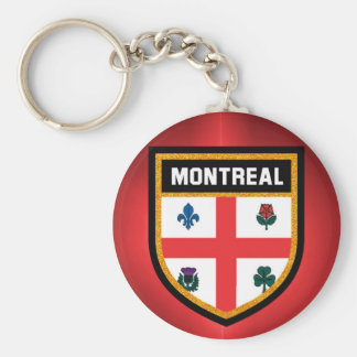 Montreal Flag Basic Round Button Key Ring