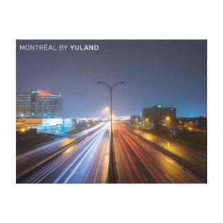 Montréal highway from overpass canvas print