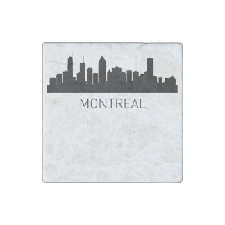 Montreal Quebec Cityscape Stone Magnet