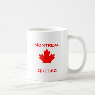 Montreal Quebec Maple Leaf Coffee Mug