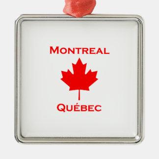 Montreal Quebec Maple Leaf Metal Ornament