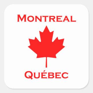 Montreal Quebec Maple Leaf Square Sticker