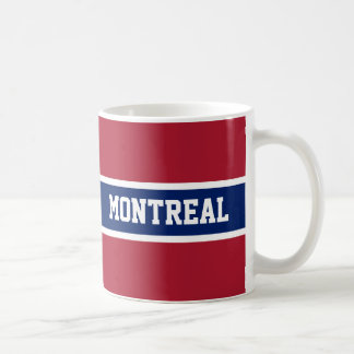 Montreal Red White and Blue Mug