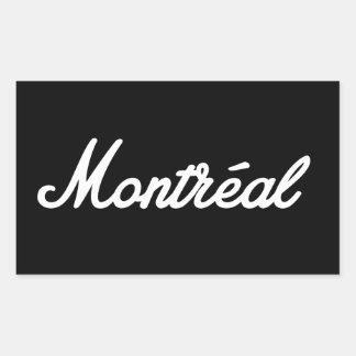 Montreal rock sticker! rectangular sticker