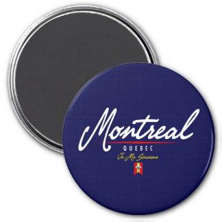Montreal Script 7.5 Cm Round Magnet