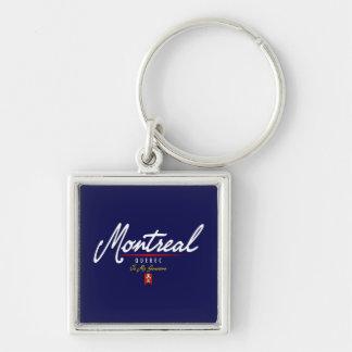 Montreal Script Key Ring