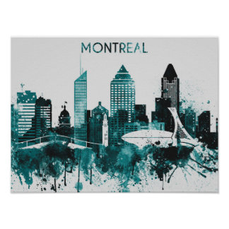 Montreal Skyline Art Poster