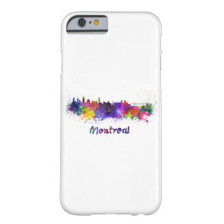 Montreal skyline in watercolor barely there iPhone 6 case