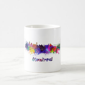 Montreal skyline in watercolor coffee mug