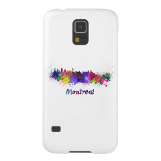 Montreal skyline in watercolor galaxy s5 case