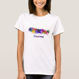 Montreal skyline in watercolor T-Shirt