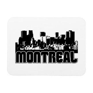 Montreal Skyline Rectangular Photo Magnet