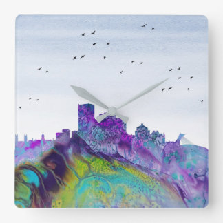 Montreal Skyline Square Wall Clock
