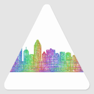 Montreal skyline triangle sticker