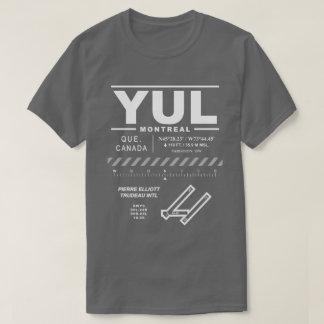 Montreal Trudeau International Airport YUL T-Shirt
