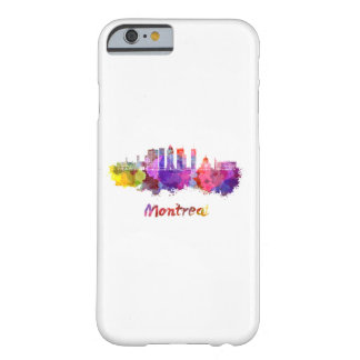 Montreal V2 skyline in watercolor splatters Barely There iPhone 6 Case