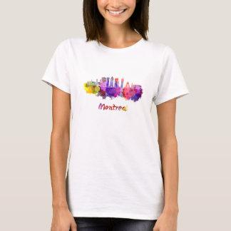 Montreal V2 skyline in watercolor splatters T-Shirt