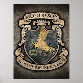 Montresor Coat of Arms Poster