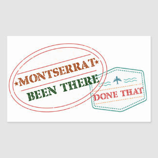 Montserrat Been There Done That Rectangular Sticker