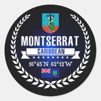 Montserrat Classic Round Sticker