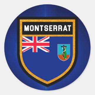 Montserrat Flag Classic Round Sticker
