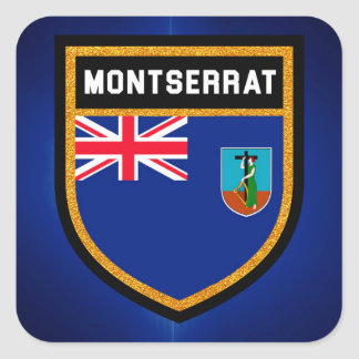 Montserrat Flag Square Sticker