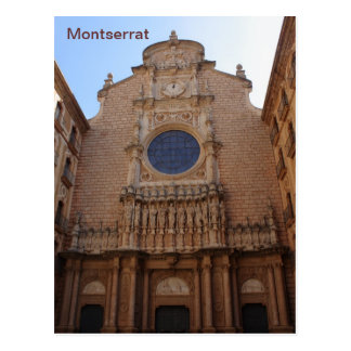 Montserrat monastery postcard