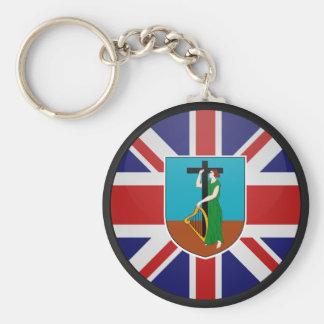 Montserrat quality Flag Circle Key Ring