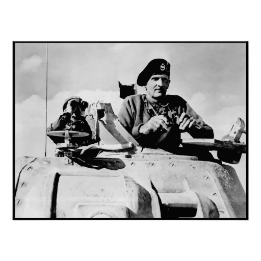 Monty In A Tank -- Border Posters