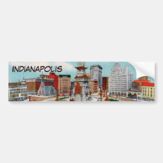 Monument Circle Bumper Sticker