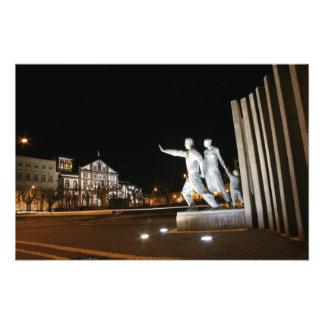 Monument in Ponta Delgada Azores Photographic Print