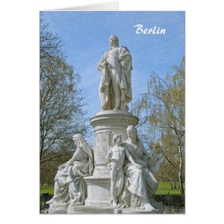 Monument of Johann Wolfgang von Goethe in Berlin Card
