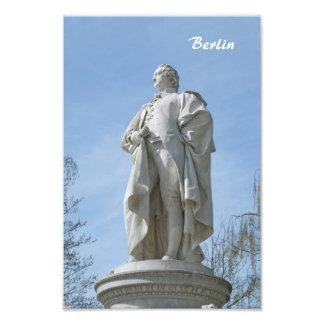 Monument of Johann Wolfgang von Goethe in Berlin Photo Art
