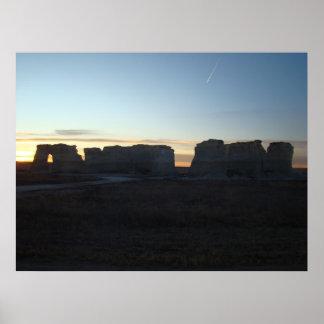 Monument Rocks National Natural Landmark Poster