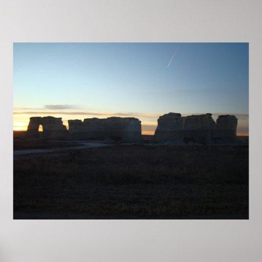 Monument Rocks National Natural Landmark Print