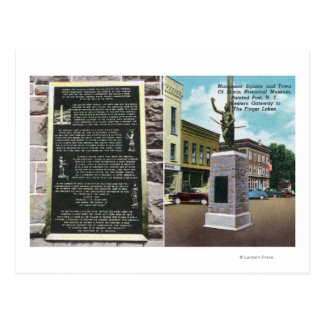Monument Square and Erwin Historical Museum Postcard