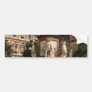 Monument to Leonardo di Vinci, Milan, Italy vintag Car Bumper Sticker