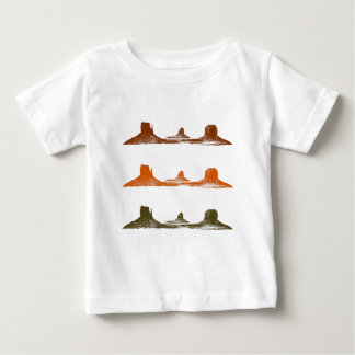 Monument Valley, 3 mountains, 3 colors Baby T-Shirt