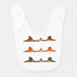 Monument Valley, 3 mountains, 3 colors Bib