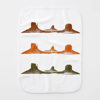 Monument Valley, 3 mountains, 3 colors Burp Cloth