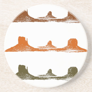 Monument Valley, 3 mountains, 3 colors Coaster