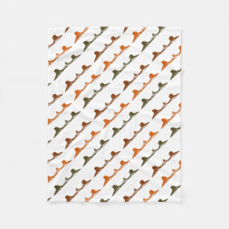 Monument Valley, 3 mountains, 3 colors Fleece Blanket